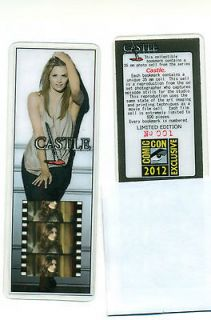 Castle Stana Katic SDCC Comic Con Exclusive Collectible Film Cell