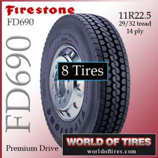 tires Firestone FD690 11r22.5 semi truck tires 22.5 truck tires 22.5