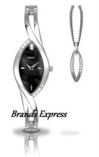seksy sparkle ladies black dial watch 4405 pendant from united