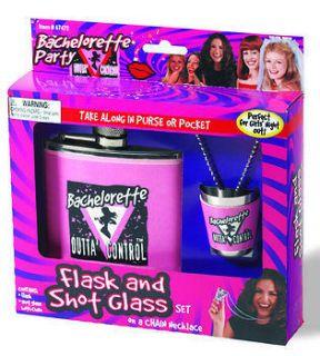bachelorette party flask shot glass set  13