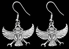 wow egyptian egypt scarab beetle earrings silver jewelry from canada