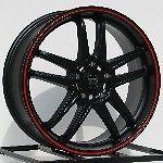 Rims Black Cadillac CTS Seville STS 5x115 Motegi Racing MR117 NEW