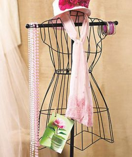 VINTAGE WIRE DRESS FORM MANNEQUIN BOUTIQUE CLOTHING DECOR