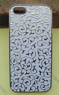 Palace Flower Synthetic leather Case Cover For iPhone 5 ,case for