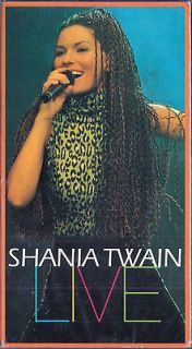 NEW Shania Twain: Live VHS RARE Video with 24 Complete Songs