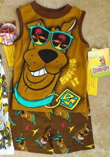 Scooby Doo 2pc Pajama Sets NWT Zoinks Shaggy Sizes 4 6 Great Christmas