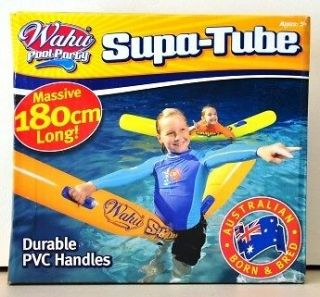 WOW WAHU POOL PARTY   SUPA TUBE INFLATABLE NOODLE w/ HANDLES SWIMMING