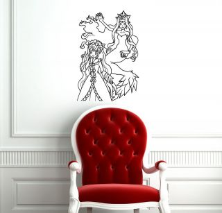 ANIME MANGA MERMAID MELODY WALL VINYL STICKER DECALS ART MURAL D1068