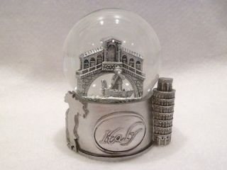 italy in silver exclusive 65mm snow globe new time left