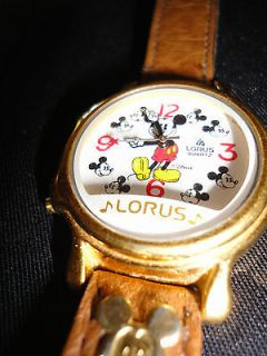 lorus musical mickey mouse watch gold tone working time left