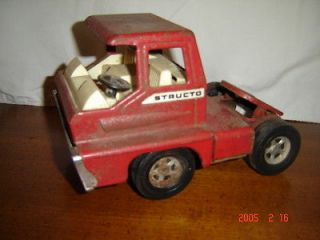 STRUCTO 5TH WHEEL TRACTOR TRAILER SEMI TRUCK Steel Metal Toy