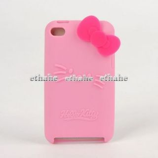 Kitty For iPod Touch iTouch 4 Silicone Case Cover Protector Pink SEF1K
