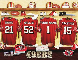 san francisco 49ers personalized locker room picture