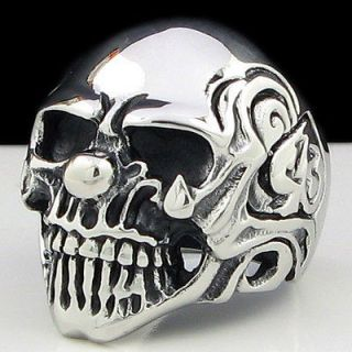Newly listed COOL HORRIBLE SKULL Stainless Steel Ring Size 12.25 NEW
