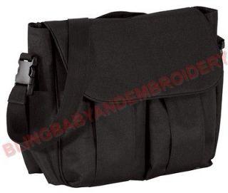 Diaper Large Bag Black Changing Pad Embroidery Rhinestone Option