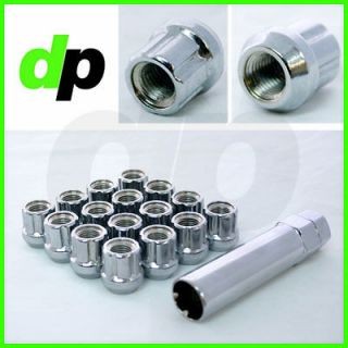 Chrome Open End Spline Drive/Small Diameter Wheel/Lug Nuts, M12x1.5