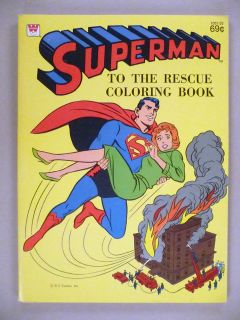 Superman to the Rescue Coloring Book   1980s    unused VF condition