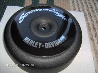 harley evo air cleaner cover screamin eagle wrink black time