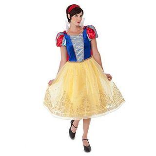 SnOw WhiTe Costume+Cape~Adult~S 4/6~M 8/10~L~XL~NWT~~Seven