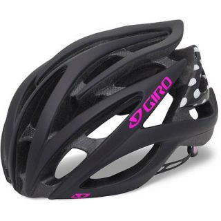 2013 Giro Amare Road Bike Cycle Helmet matt black white polka dot