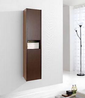 Newly listed 12 Modern Bathroom Vanity Side Cabinet Walnut