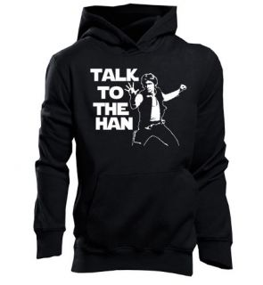 STAR WARS HAN SOLO FIGURE TALK TO THE HAN FUNNY HOODIE JF167
