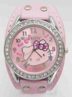 Piece Swarovski Hello Kitty Children Crystal Wrist Watch Sport Time