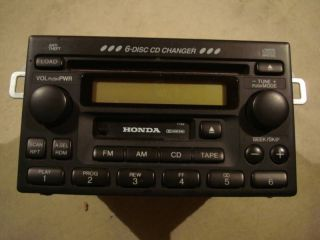98 02 HONDA ACCORD RADIO 6 DISC CD PLAYER WITH CODE