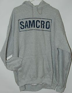 sons of anarchy gray samcro logo pullover hoodie soa