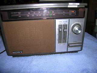 vintage sony icf 9540w am fm 2 band radio returns