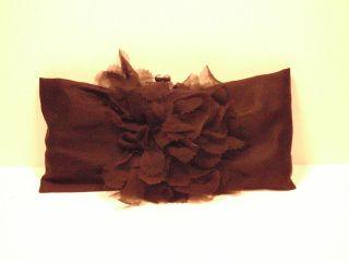 Sondra Roberts 100% Black Silk Clutch Handbag Purse Kiss Closure New