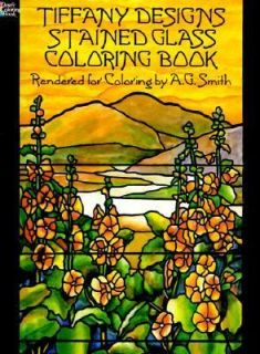 Tiffany Designs Stained Glass Coloring Book by A. G. Smith 1991