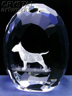 bull terrier 3d laser etched crystal easter egg 21e from