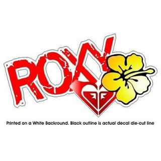 roxy girl surfboard surfing decal sticker 4 x7 527r from