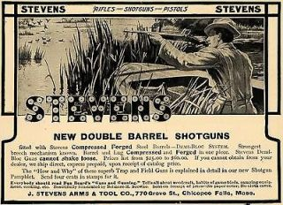 1908 Ad Stevens Rifles Shotguns Pistols Double Barrel   ORIGINAL