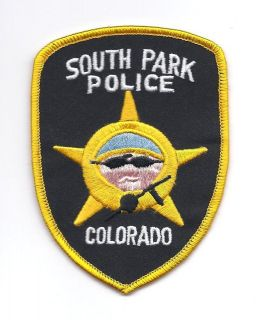south park colorado police patch  4 25