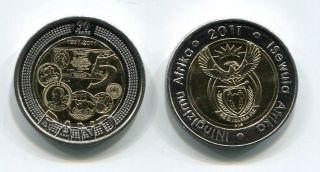 SOUTH AFRICA 2011 R5 UNC RESERVE BANK 90 YEARS COMMEMORATIVE COIN
