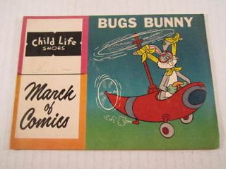 march of comics 188 1959 bugs bunny child life shoes  9 95