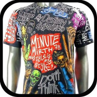 Shirt Tattoo bmx Graffiti N43 Sz M L Rock Street Skate Board Punk