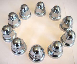 10 BARJAN STAINLESS STEEL CHROME PLATED 33MM LUG NUT COVER CAPS