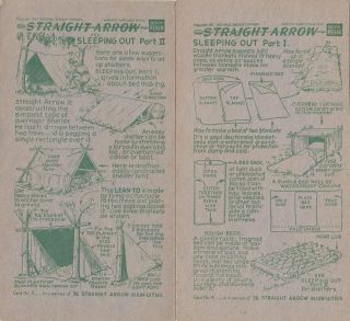 NATIVE AMERICAN INDIAN CAMPING SLEEPING OUT GUIDE VINTAGE 1950s