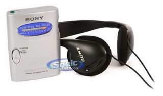 SRF 59SILVER (SRF59) AM/FM Walkman Radio w/ On Ear Stereo Headphones