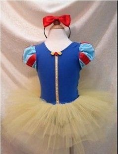 Kids Girl Snow White Costume Romper ballerina PARTY Dress Tulle Tutu