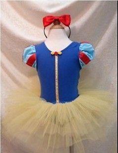 Kids Girl Snow White Costume Romper ballerina PARTY Dress Tulle Tutu