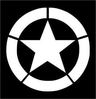jeep willys army star hood decal vinyl sticker 16 as2