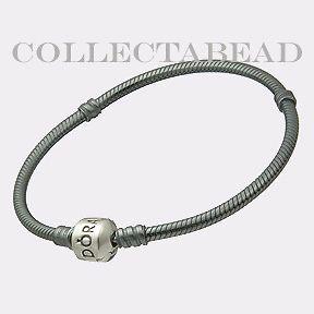 listed authentic pandora sterling silver oxidized bracelet lock 6