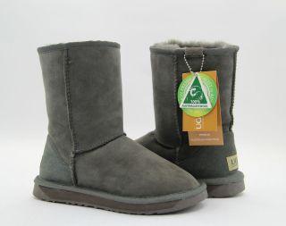 ugg classic short boots grey premium australian sheepskin