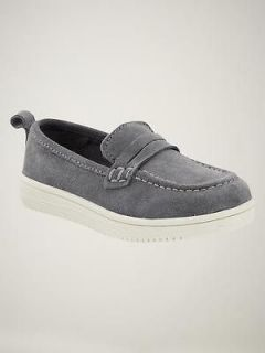 GAP~BOYS CHASING SPRING GRAY SUEDE PENNY LOAFERS SHOES~11~NEW