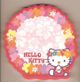sanrio hello kitty sticky notes hawaii haku lei time left