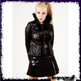 PUNK RAVE STEAM PUNK MILITARY JACKET   PUNK/GOTHIC/BLACK/COAT   UNISEX